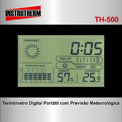 915a46b474f Instrutherm Instrumentos de Medição · TERMO-HIGRÔMETRO DIGITAL PORTÁTILCOM  PREVISÃO METEOROLÓGICA MOD.TH-500. Carregando imagem!